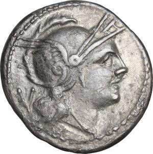 obverse: H series. . AR Quinarius, c. 211-210 BC, South East Italy