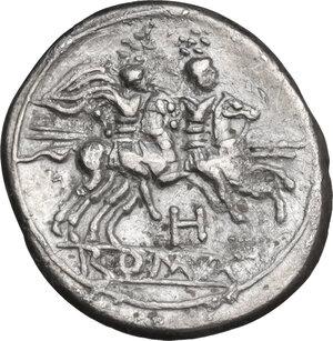 reverse: H series. . AR Quinarius, c. 211-210 BC, South East Italy