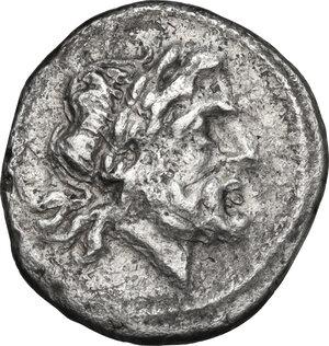 obverse: Torque series.. AR Victoriatus, uncertain mint, 211-208 BC