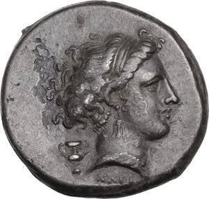 obverse: Central and Southern Campania, Neapolis.  AR Didrachm, c. 300-275 BC