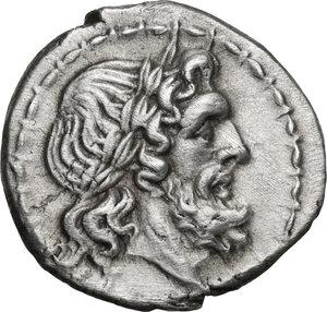 obverse: L series.. AR Victoriatus, Luceria mint, c. 214-212 BC