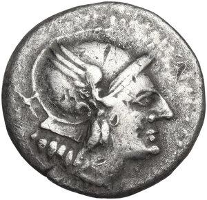 obverse: Knife (first) series. AR Denarius, c. 209 BC, uncertain mint in Spain