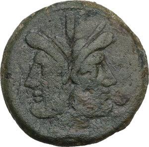obverse: Prawn series. AE As, c. 179-170 BC