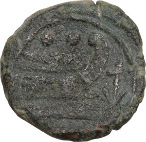 reverse: Anchor (third series). AE Sextans, c. 169-158 BC