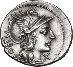 obverse: Q. Marcius Libo. . AR Denarius, 148 BC