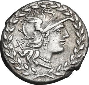 obverse: Cn. Gellius.. AR Denarius, 138 BC