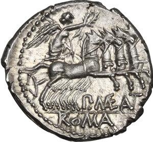 reverse: P. Maenius Antiaticus M. f. . AR Denarius, 132 BC