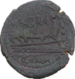 reverse: M. Fabrinius. AE Quadrans, 132 BC
