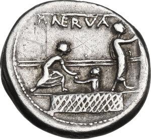 reverse: P. Nerva.. AR Denarius, 113-112 BC
