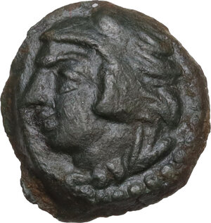 obverse: Q. Fab.. AE Quadrans, uncertain Sicilian mint (Lilybaeum or Panormos), late 2nd century BC
