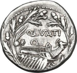 reverse: Q. Lutatius Cerco.. AR Denarius, 109-108 BC