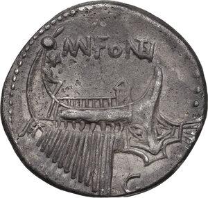 reverse: Mn. Fonteius. AR Denarius, 108-107 BC