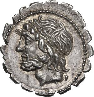 obverse: L. Scipio Asiagenus.. AR Denarius serratus, 106 BC