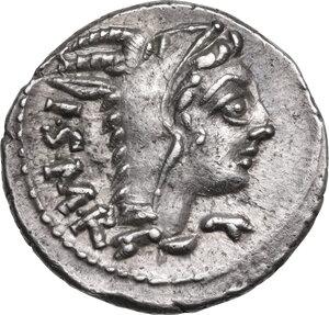 obverse: L. Thorius Balbus. . AR Denarius, 105 BC