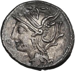 obverse: L. Appuleius Saturninus. . AR Denarius, 104 BC