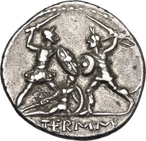 reverse: Q. Thermus M.f. . AR Denarius, 103 BC