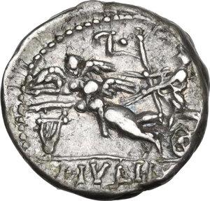 reverse: L. Julius L.f. Caesar.. AR Denarius, 103 BC