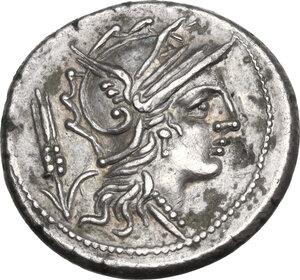 obverse: L. Iulius.. AR Denarius, 101 BC
