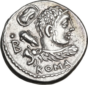 obverse: Pub. Lentulus Marceli f.. AR Denarius, 100 BC