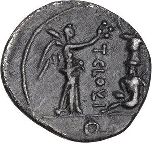 reverse: T. Cloelius.. AR Quinarius, 98 BC