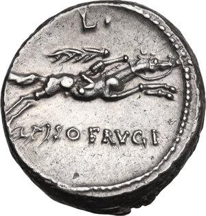 reverse: L. Calpurnius Piso Frugi.. AR Denarius, 90 BC