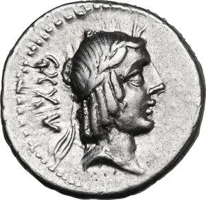 obverse: L. Calpurnius Piso Frugi.. AR Denarius, 90 BC