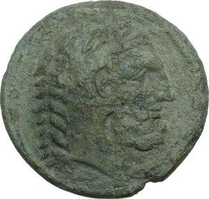 obverse: Eastern Italy, Larinum. AE Teruncius, c. 210-175 BC