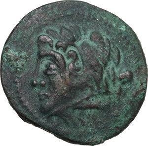 obverse: Northern Apulia, Ausculum. AE 20 mm. c. 240 BC