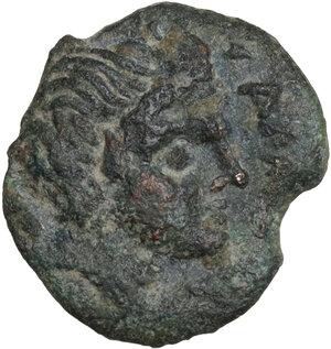 obverse: Northern Apulia, Salapia. AE 14.5 mm. Circa 225-210 BC