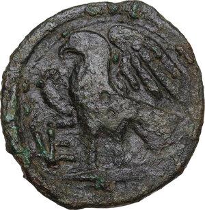 reverse: Northern Apulia, Venusia. AE Quincunx, c. 210-200 BC