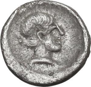 reverse: Southern Apulia, Tarentum. AR Hemilitron, c. 470-450 BC