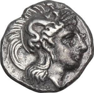obverse: Southern Apulia, Tarentum. AR Diobol, circa 325-280 BC