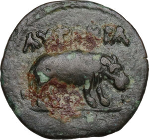 reverse: Claudius (41-54).. AE Obol. Alexandria mint, Egypt. Dated RY 2 (41/2 AD)