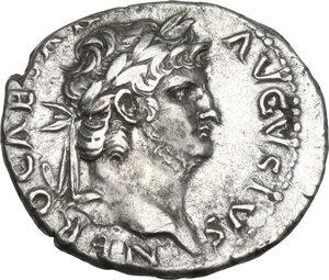 obverse: Nero (54-68).. AR Denarius, Rome mint, struck c. 65-66 AD