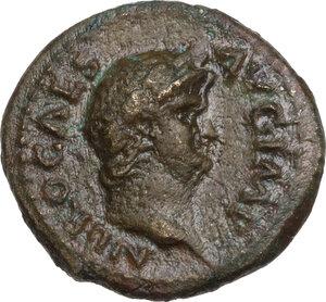 obverse: Nero (54-68).. AE Semis