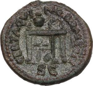 reverse: Nero (54-68).. AE Semis