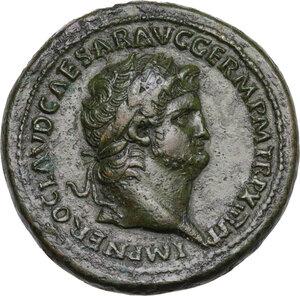 obverse: Nero (54-68)..  AE Sestertius, Rome mint, 67 AD