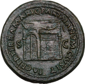 reverse: Nero (54-68)..  AE Sestertius, Rome mint, 67 AD