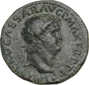 obverse: Nero (54-68).. AE Dupondius, Lugdunum mint