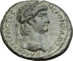 obverse: Nero with Poppaea.. AE 20 mm. Thyatira mint, Lydia, c. 62 AD