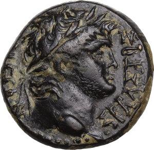 obverse: Nero (54-68).. AE 19mm. Laodikeia mint, Phrygia. Aineias magistrate