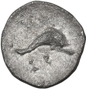 reverse: Southern Apulia, Tarentum. AR Litra, c. 325-280 BC