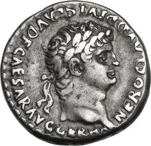 obverse: Nero with Divus Claudius (54-68).  AR Didrachm, Caesarea-Eusebia mint, Cappadocia