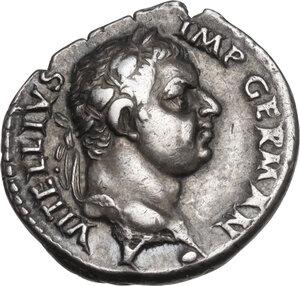obverse: Vitellius  (April – December 69). AR Denarius, Tarraco mint (?)
