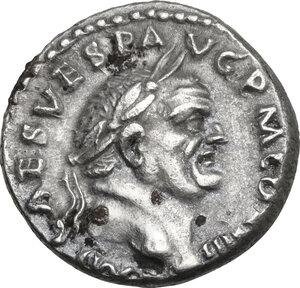 obverse: Vespasian (69-79 AD).. AR Denarius, 72-73 AD