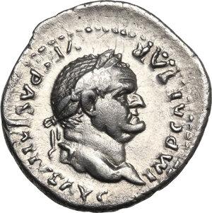 obverse: Vespasian (69 -79).. AR Denarius, 77-78 AD
