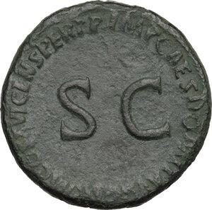 reverse: Julia Titi, daughter of Titus (died 90 AD). . AE Sestertius, Rome mint. Struck under Domitian, 92-94 AD