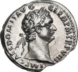 obverse: Domitian (81-96 AD).. AR Denarius, 88-89 AD