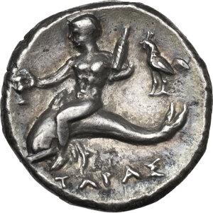 reverse: Southern Apulia, Tarentum. AR Stater, c. 272-240 BC