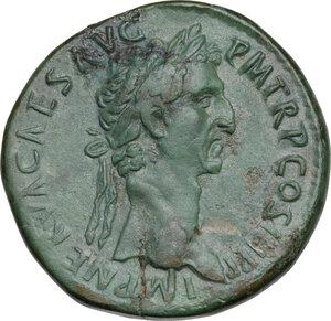 obverse: Nerva (96-98).. AE Sestertius, 96 AD
